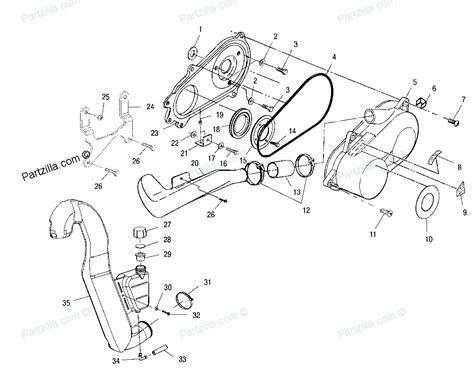 polaris parts diagram polaris atv parts 2000 a00cg38ca xplorer 400 clutch cover