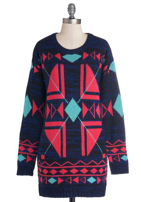 colorful sweaters colorful creativity sweater mod retro vintage sweaters