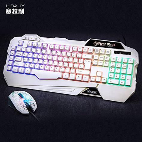 Gaming Mouse Rainbow Led Rafjoo 2400 Dpi T0210 new hirali 174 x 31 led rainbow gaming keyboard and mouse white free shipping ebay