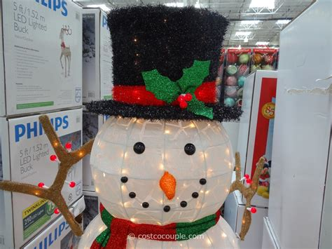 outdoor led lighted snowman 60 inch lighted snowman