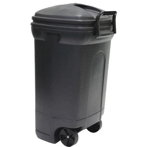 shop united solutions 34 gallon gray outdoor garbage can