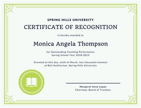 certificate of appreciation for teachers template customize 204 recognition certificate templates