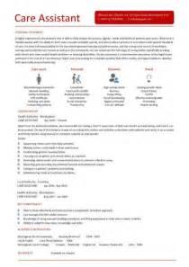 care assistant cv template description cv exle