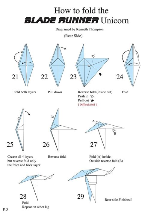 How To Make Paper Unicorn - origami unicorn blade runner 171 embroidery origami