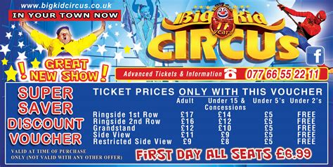 ticket bid tickets big kid circus