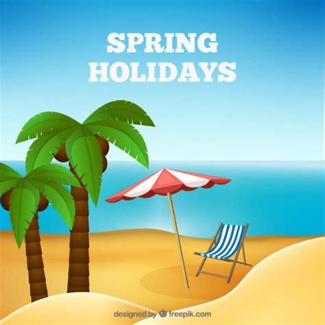 imagenes vacaciones de primavera fondo de vacaciones de primavera descargar vectores gratis