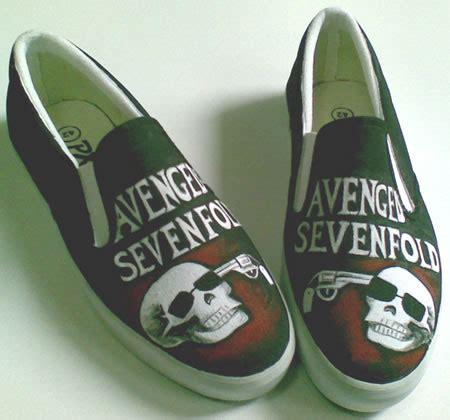 Sepatu Lukis Spongebob Vans sepatu lukis avenged sevenfold 4