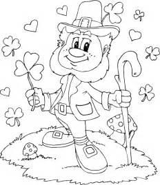 leprechaun shamrocks hearts coloring page coloring
