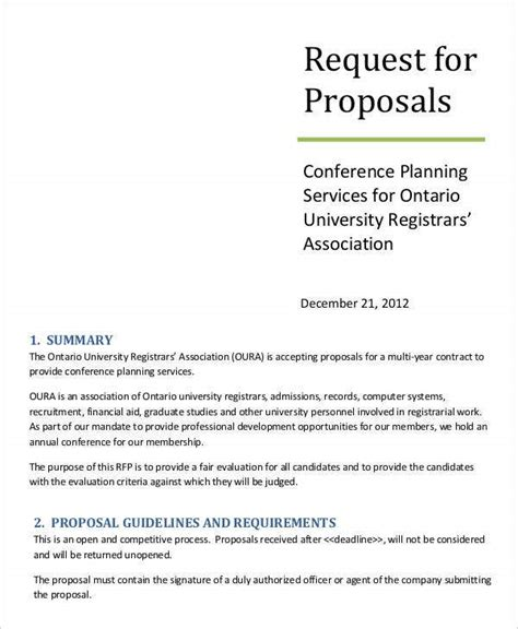 request proposal templates sample