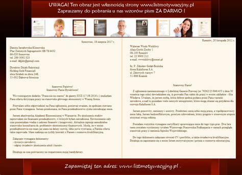 Cv Przyklad Architekt List Motywacyjny Wzory I Przyk蛯ady List 243 W Motywacyjnych I Cv