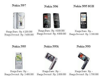 Harga Semua Merek Hp Nokia daftar lengkap harga terbaru hp nokia mei 2011 info merek