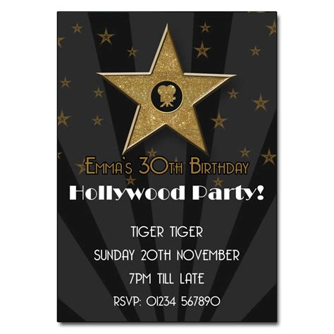 free templates for hollywood invitations hollywood party invitation the invitation boutique