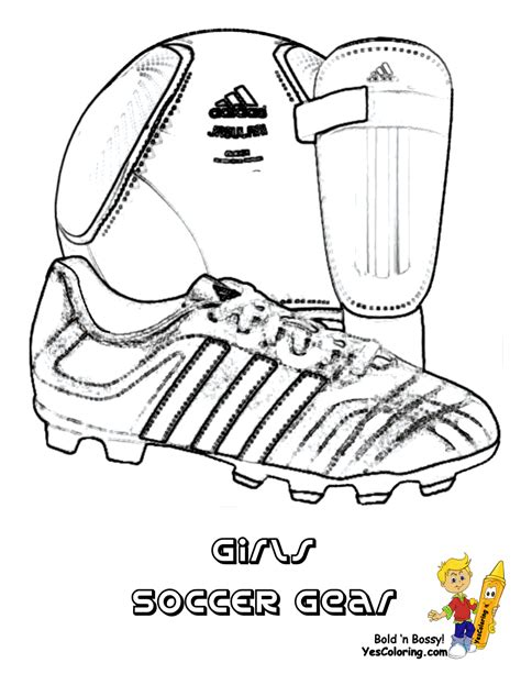 coloring pages of football stuff coloring page to print soccer gear soccer ball soccer