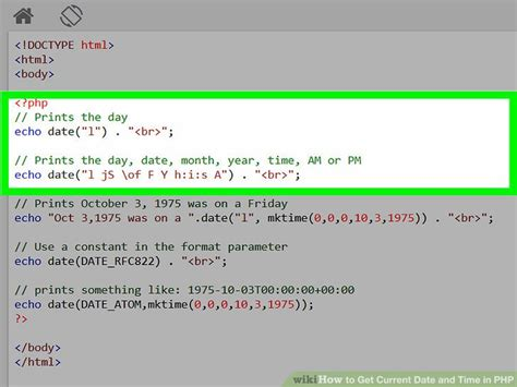 php read date format how to get current date and time in php 7 steps with