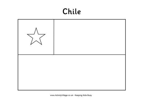 coloring pages of latin american flags chile flag colouring page