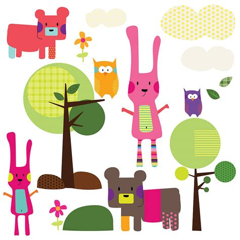 Woodland Animals Wall Stickers woodland animal wall stickers by spin collective