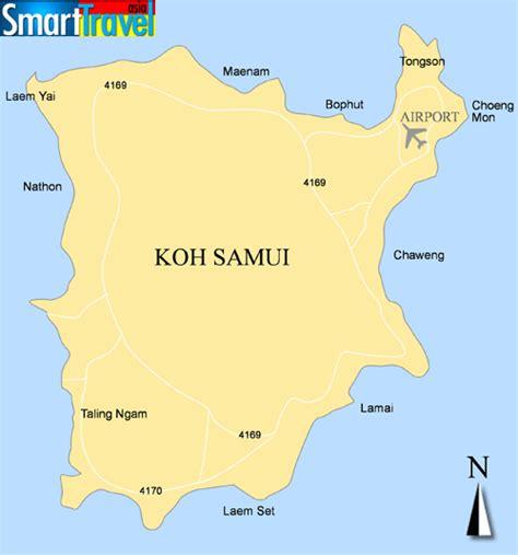 printable map koh samui detailed a4 printable map of koh samui listing popular