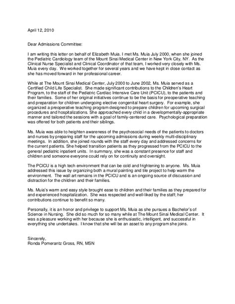 Recommendation Letter Dear Admission Committee Lor Cls From Ronda Gross1
