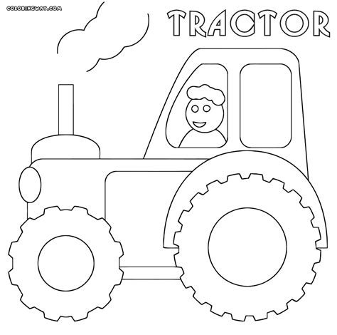 trendy john deere tractor coloring page with johnny