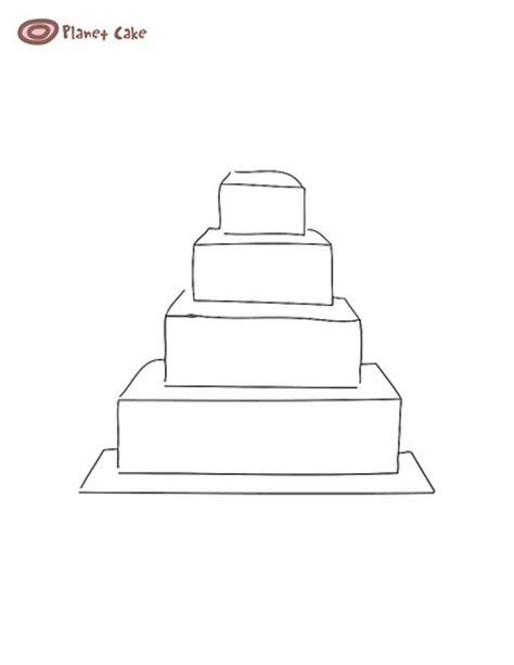 Wedding Cake Template by 4 Tier Square Cake Template Flickr Photo