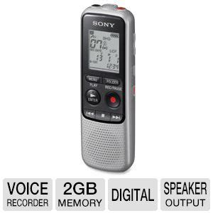 2gb digital voice recorder sony digital voice recorder 75hz 15khz 2gb memory