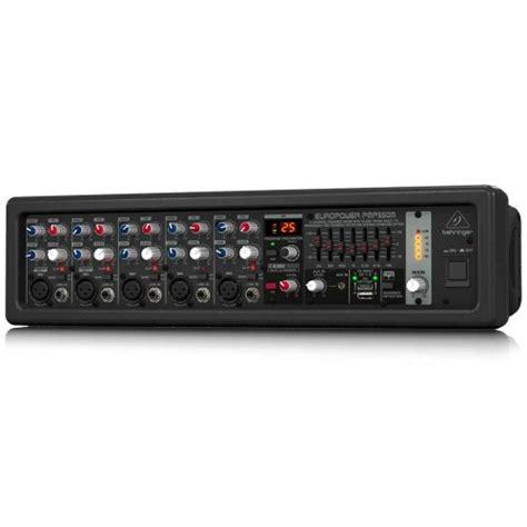 Behringer Pmp550m 500 Watt 5 Channel Power Mixer With Wireless Option behringer pmp550m europower 500 watt 5 channel powered mixer instruments sale
