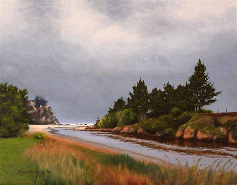 Landscape Paintings New Zealand Brighton New Zealand Landscape Painting By Michael
