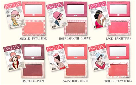 The Balm Instain Swiss Dot Blush the balm instain 174 wearing staining powder blush in houndstooth with swatch makeup