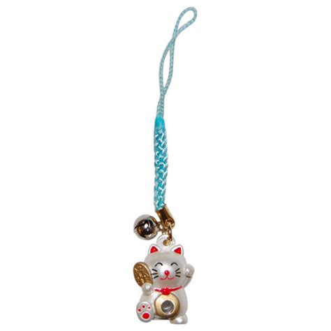 fortune lucky cat phone charm
