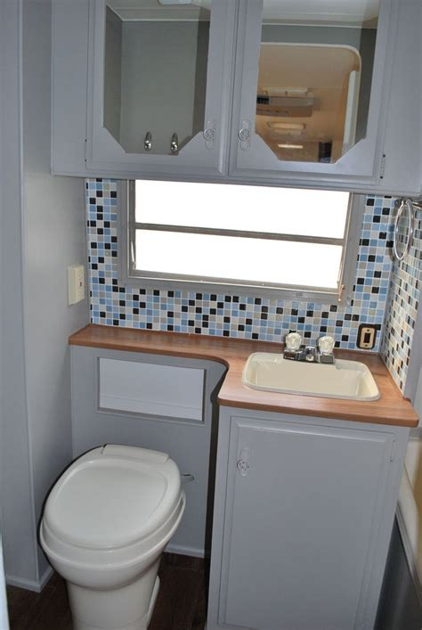 travel trailer bathroom remodeled bathroom 1985 fleetwood prowler all the walls