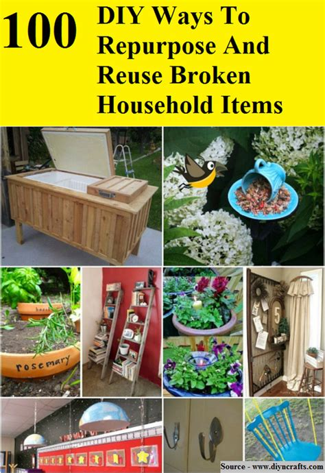 Ways To Fix Your Broken Products by 100 Diy Ways To Repurpose And Reuse Broken Household Items
