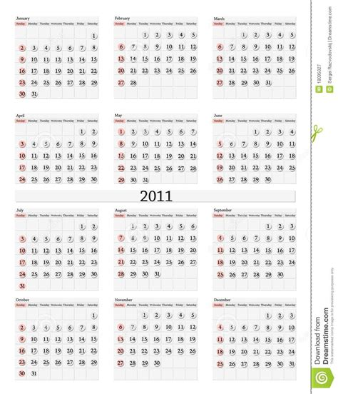 2011 calendar royalty free stock photography image 18095027