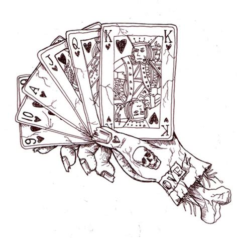 card draw holding cards picture at