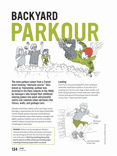 how to do parkour in your backyard unbored the essential field guide to serious fun joshua