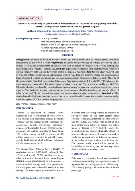 cross sectional study pdf a cross sectional study on prevalence and determinants of