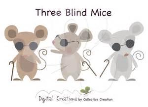 3 Blind Micr Three Blind Mice Digital Clip Art Clipart By