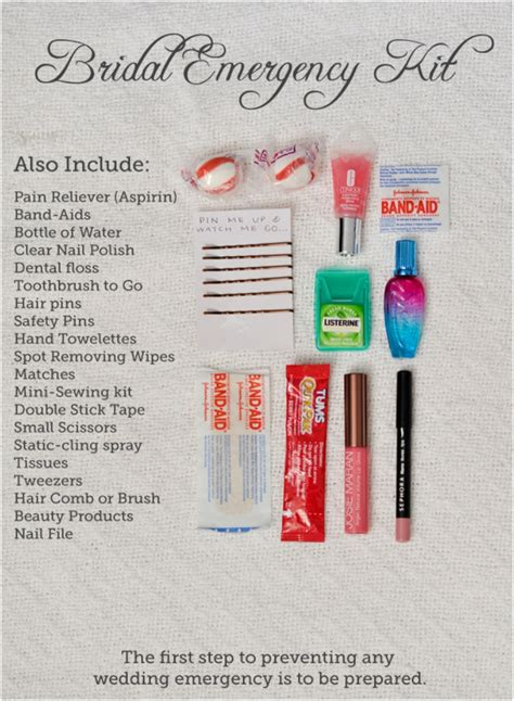 Wedding Kit by Bridesmaid Survival Kit Images