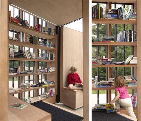 reading space story pod is a moveable reading nook for the community