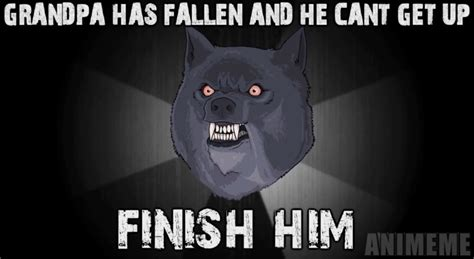 E Animeme by Insanity Wolf Vs Courage Wolf Vs Smile