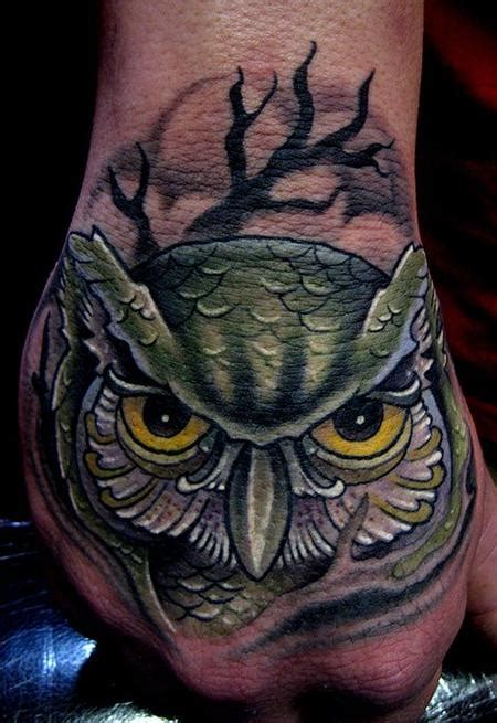 owl tattoo designs on hand off the map tattoo tattoos traditional old school