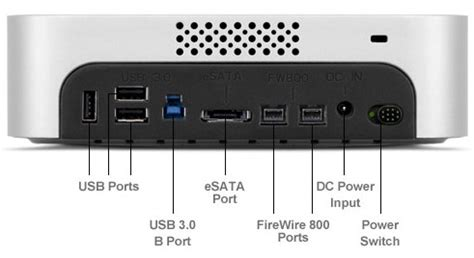 mac mini firewire port review ministack max completes our mac mini htpc the