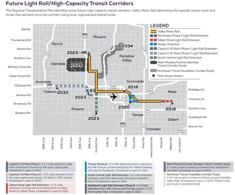 phoenix light rail schedule valley metro light rail expansion update lra real estate