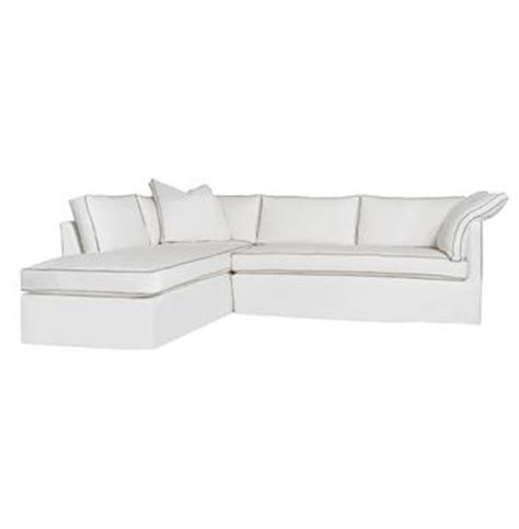 feather down sectional renata contrast piping modern classic feather down
