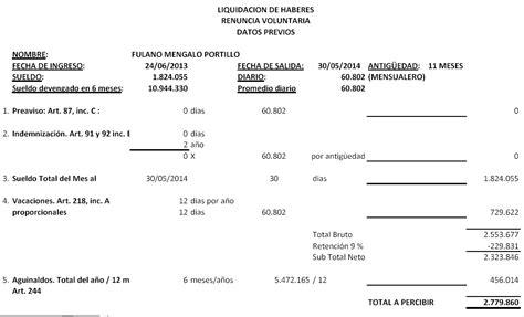 liquidacion de beneficios sociales foro contable contabilidad ejercicios pr 225 cticos de liquidaci 243 n de haberes