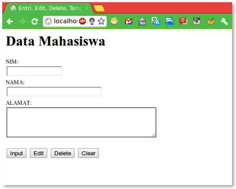 desain form input dengan css entri edit delete til dengan php dan ajax jquery