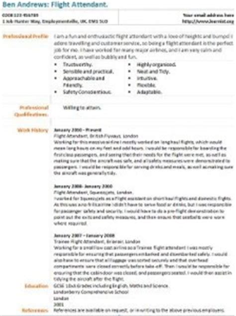 Cabin Crew Resume Example by Flight Attendant Cv Example Learnist Org