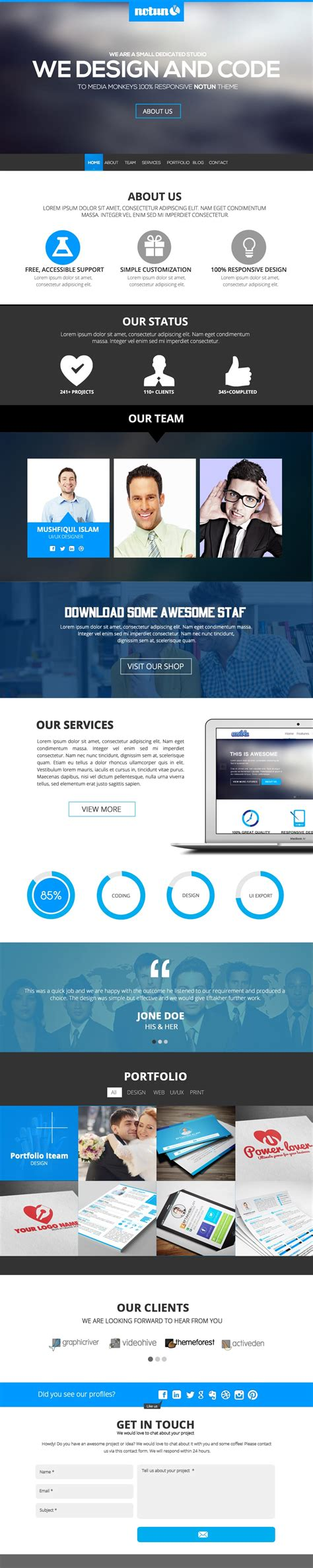 Free Single Page Website Templates Psd 187 Css Author Single Page Website Template Free