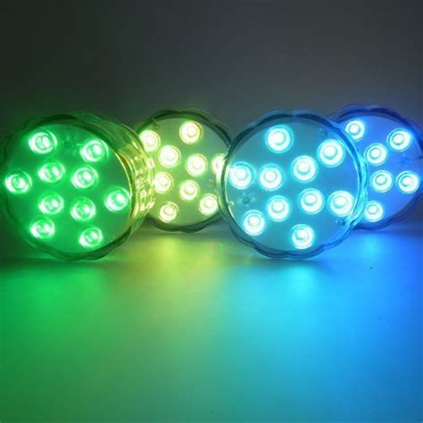 small decorative battery operated ls remote controlled rgb submersible led lights color