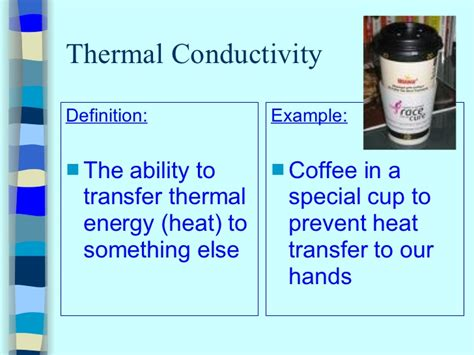 define thermal resistance thermal conductivity definition of thermal conductivity