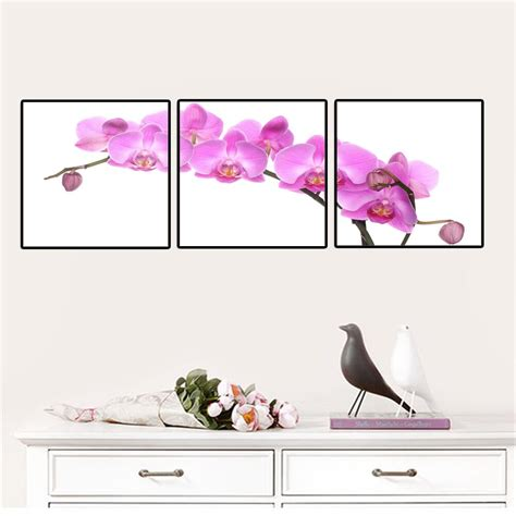 panels flowers canvas paintings red orchid flowers
